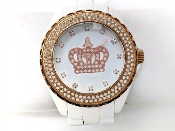 ロベルタ スカルパ 腕時計 RS-6039 レディース ラインストーン/スカル 白
