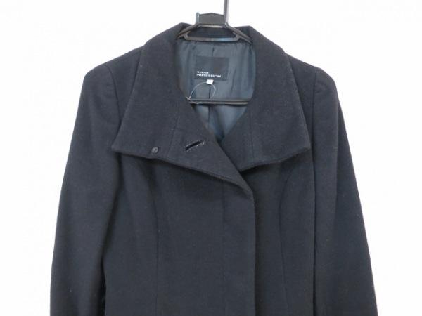 クリアインプレッション コート サイズ1 S レディース美品  黒 冬物