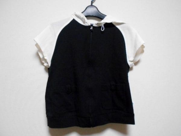 LANVIN SPORT(ランバンスポーツ) ジャージ サイズ38 M レディース 黒×白 半袖