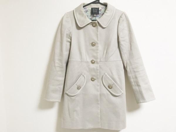 シンシアローリー コート サイズ3 L レディース ライトベージュ ビジュー/春・秋物
