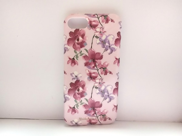 メゾンドフルール 携帯電話ケース ピンク×マルチ iPhone7/8 プラスチック