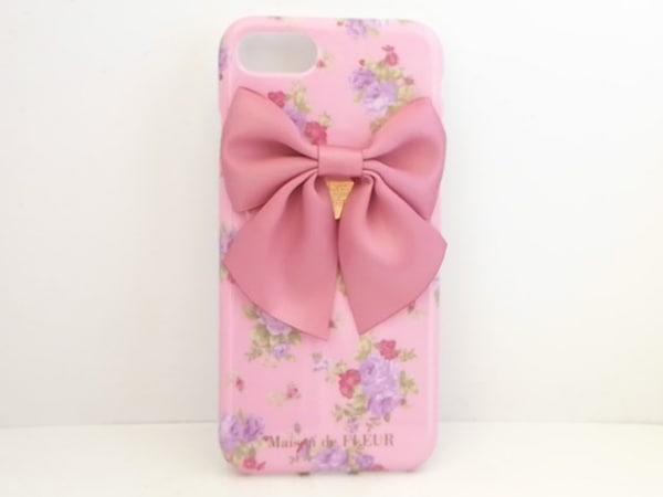 メゾンドフルール 携帯電話ケース新品同様  ピンク×マルチ iPhone7/8/花柄/リボン