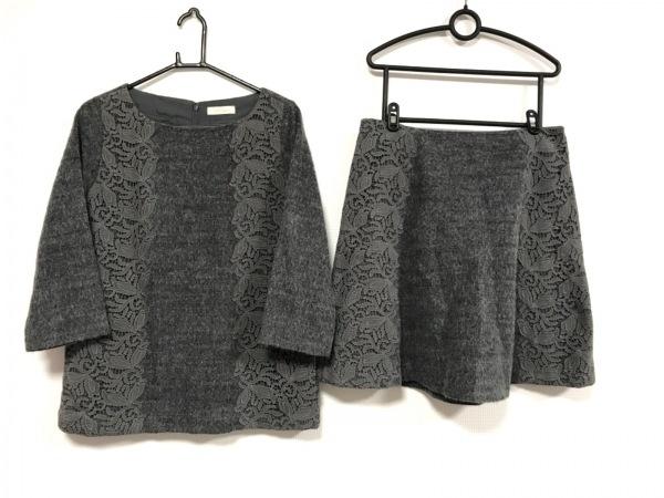 Cara(カーラ) スカートセットアップ サイズLL レディース美品  グレー レース