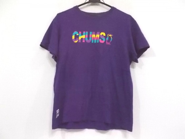CHUMS(チャムス) 半袖Tシャツ サイズS レディース パープル×マルチ