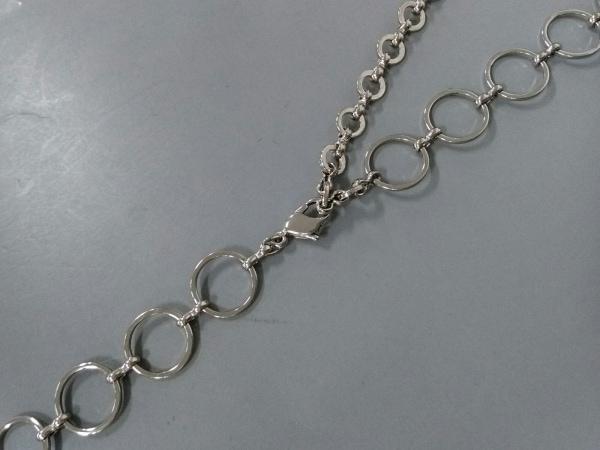 NOVESPAZIO(ノーベスパジオ) ネックレス 金属素材×プラスチック シルバー×クリア