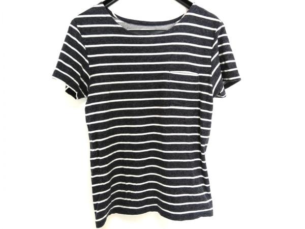 サタデーズ サーフ ニューヨーク 半袖Tシャツ メンズ ネイビー×白 ボーダー