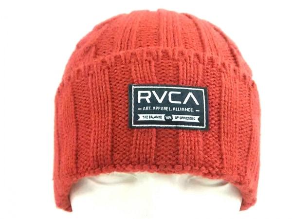 RVCA(ルーカ) ニット帽美品  レッド アクリル