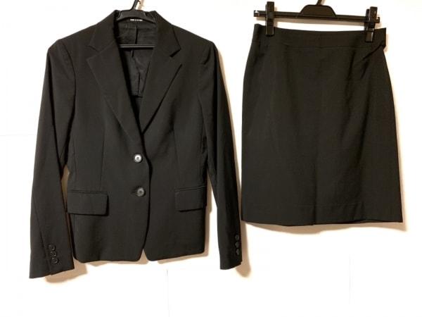 COMME CA DU MODE(コムサデモード) スカートスーツ レディース 黒 肩パッド