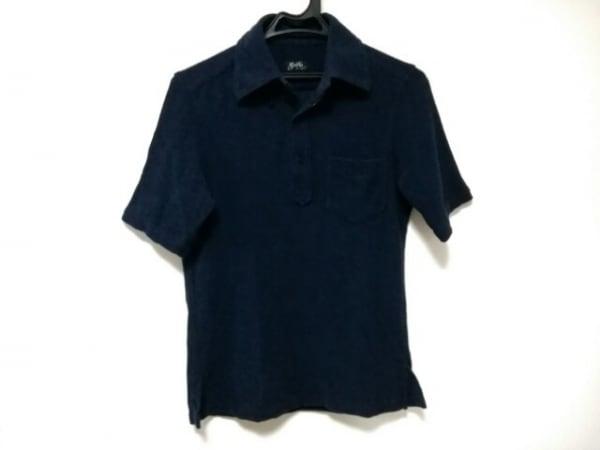 BRILLA(ブリラ) 七分袖ポロシャツ サイズS メンズ美品  ネイビー