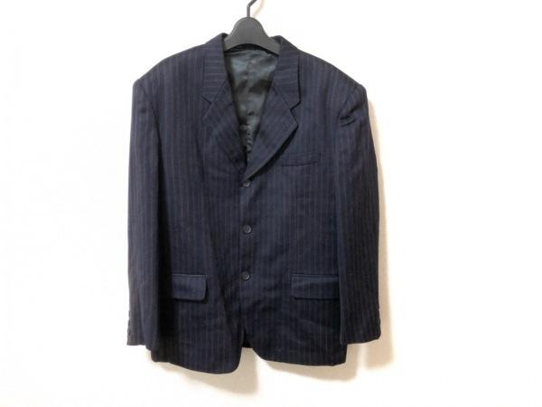 PAZZO(パッゾ) ジャケット サイズS メンズ美品  ダークネイビー×ブラウン チェック柄