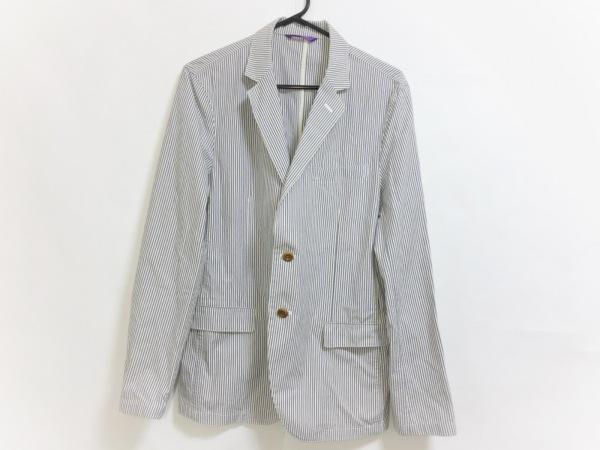 ポールスミス ジャケット サイズL メンズ美品  白×ネイビー×ダークブラウン