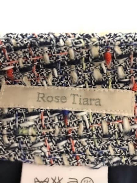 ローズティアラ スカート サイズ46 XL レディース美品  ネイビー×白×マルチ ラメ