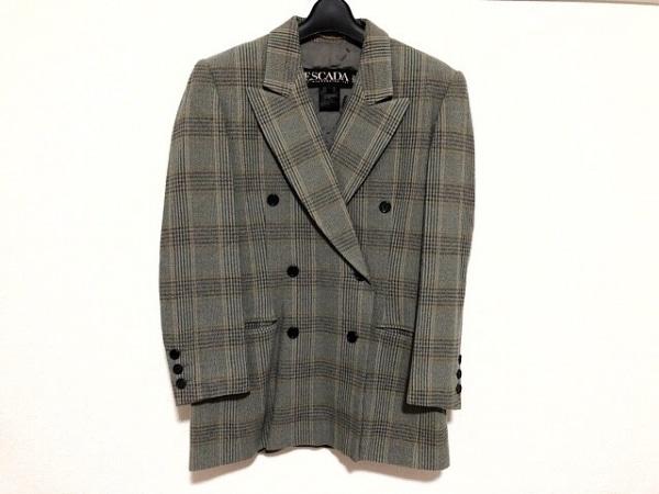 ESCADA(エスカーダ) ジャケット サイズ38 L レディース美品  チェック柄/肩パッド