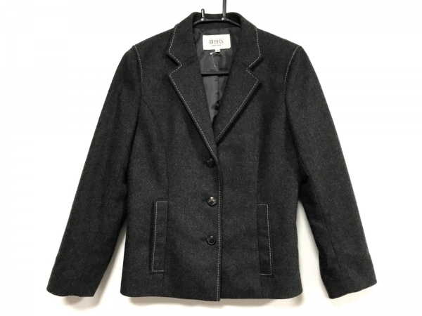 ジユウク ジャケット サイズ36 S レディース美品  ダークグレー×グレー