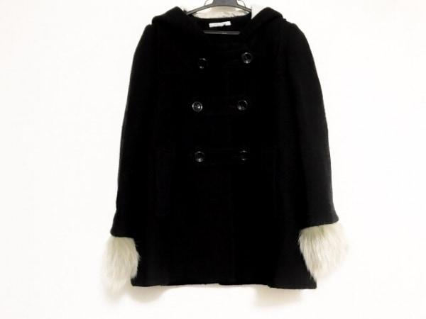 SCOTCLUB(スコットクラブ) ダッフルコート サイズ9 M レディース美品  黒×グレー