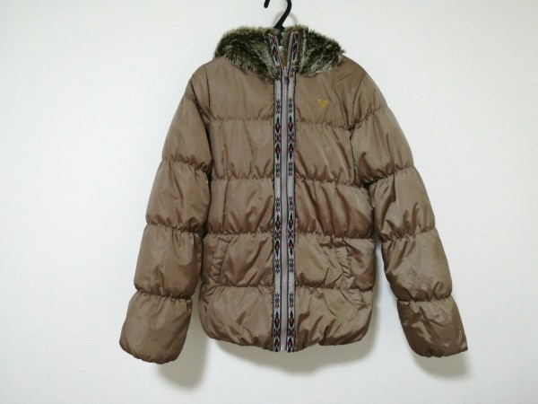 Roxy(ロキシー) ダウンジャケット サイズS レディース美品  ベージュ 冬物