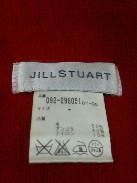 JILL STUART(ジルスチュアート) マフラー レッド ウール×アンゴラ×ナイロン