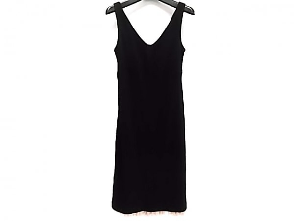 ビーシービージードレス ワンピース サイズXS レディース 黒×ピンク フリル/メッシュ