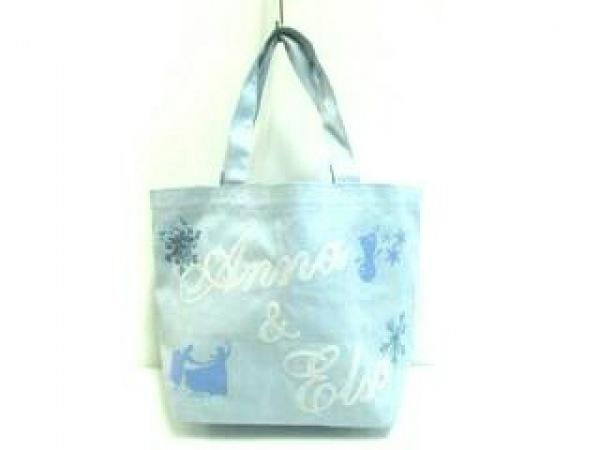 サマンサタバサ ハンドバッグ ライトブルー×白 アナと雪の女王/Disney
