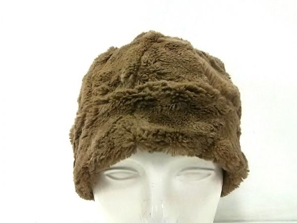 【中古】 カシラ CA4LA 帽子 ブラウン フェイクファー ポリエステル