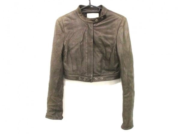 アンシャントマン ライダースジャケット サイズ38 M レディース ブラウン