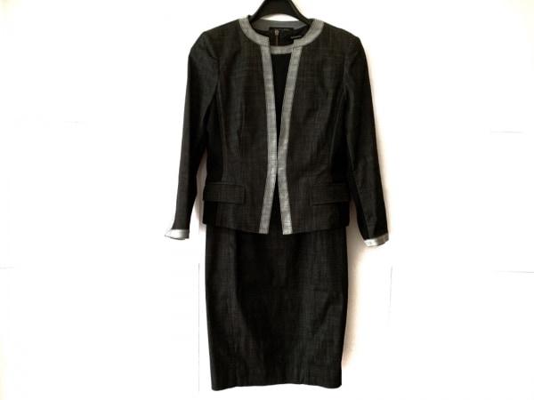 BERARDI(ベラルディ) ワンピーススーツ サイズ4 XL レディース 黒×グレー 肩パッド