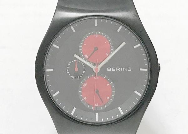 BERING(ベーリング) 腕時計美品  11942-229 メンズ 黒×レッド