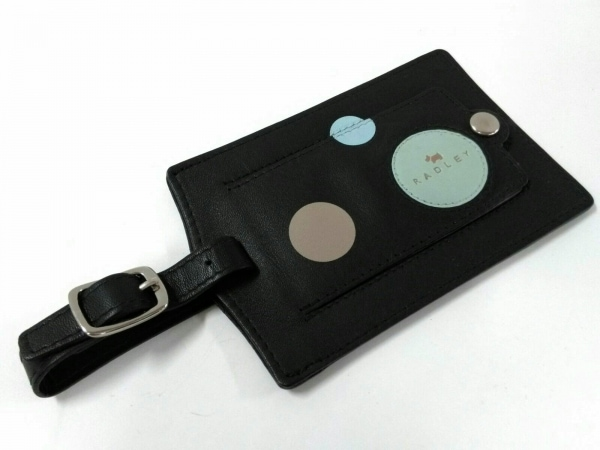 RADLEY(ラドリー) 小物 黒×ライトグリーン×マルチ ネームタグ/ドット柄 レザー