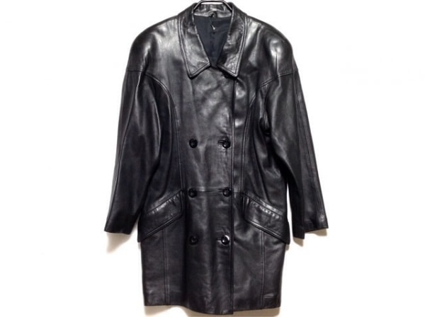PARTINA(パルティーナ) コート サイズM レディース 黒 レザー/春・秋物