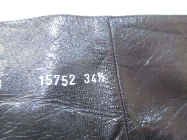 ブルーノマリ ロングブーツ 34 1/2 レディース 黒 レザー 8