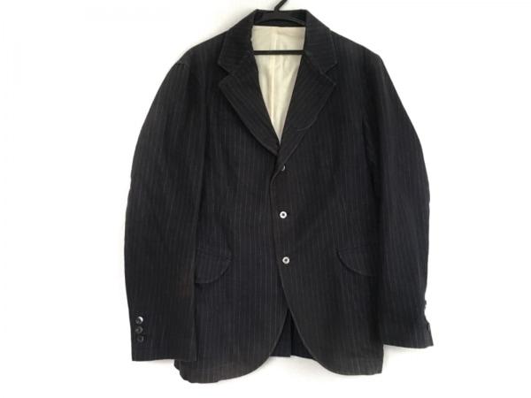 トゥモローランド ジャケット サイズ48 XL メンズ ネイビー×白 ストライプ/Edition