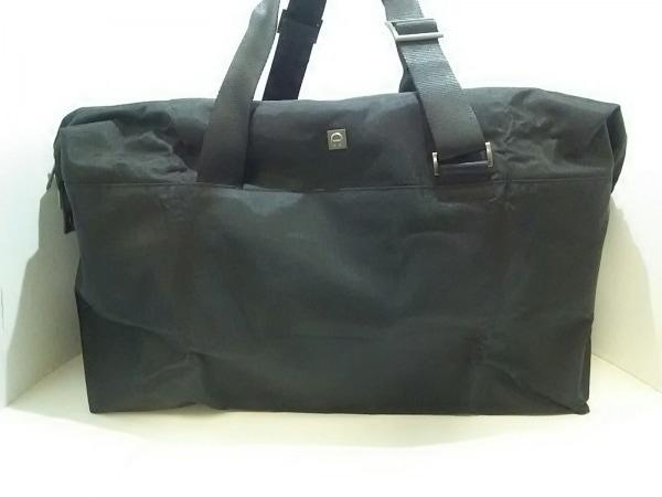 AIGNER(アイグナー) ボストンバッグ美品  黒 折りたたみ 化学繊維