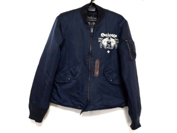 SALVAGE(サルベージ) ダウンジャケット サイズS メンズ新品同様  ネイビー 冬物
