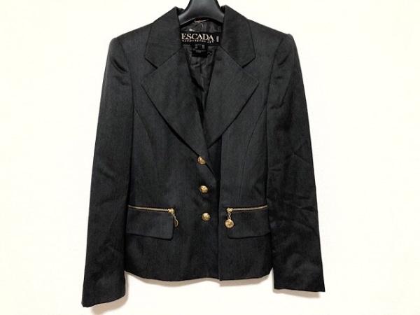 ESCADA(エスカーダ) ジャケット サイズ36 M レディース美品  ダークグレー 肩パッド