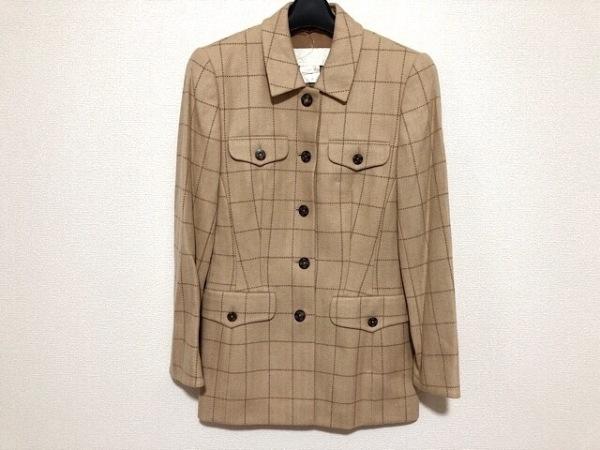 エスカーダ ジャケット サイズ34 S レディース美品  ベージュ×ダークブラウン