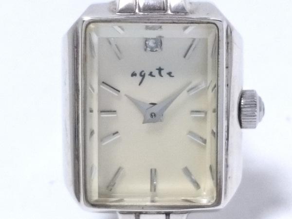agete(アガット) 腕時計 - レディース ダイヤ0.02カラット アイボリー
