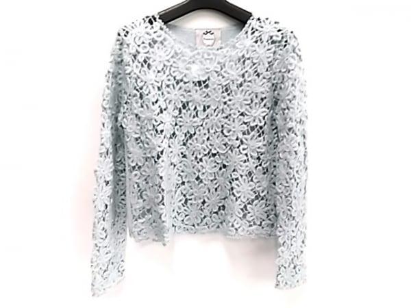 リランドチュール 長袖セーター サイズ2 M レディース美品  ライトブルー フラワー