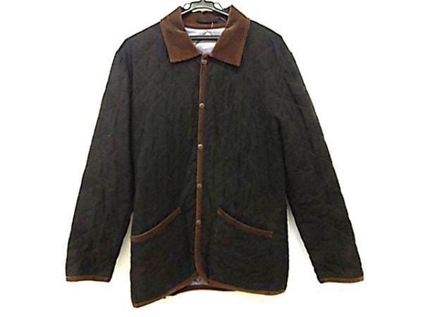 イネドオム コート サイズ3 L メンズ カーキ×ダークブラウン キルティング/冬物