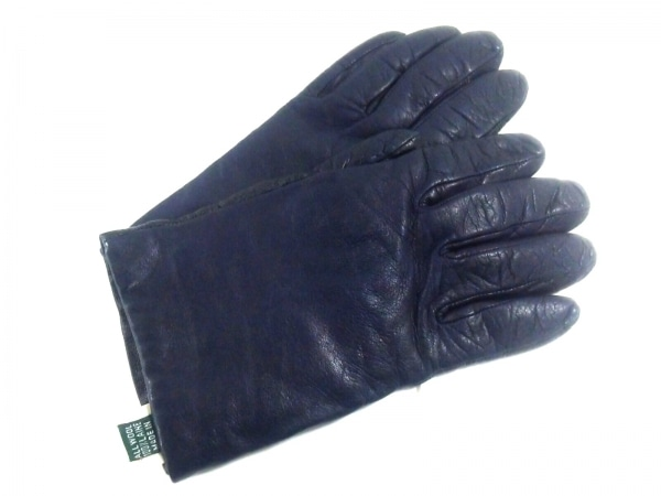 Gloves(グローブス) 手袋 レディース ネイビー レザー