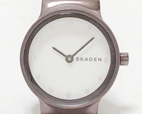 SKAGEN(スカーゲン) 腕時計 SKW2670 レディース ラインストーン 白