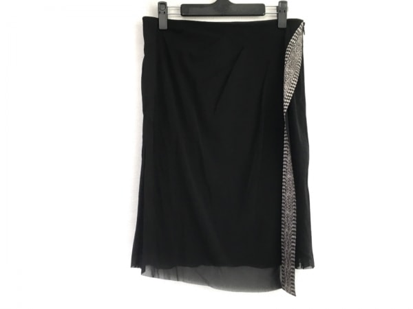 VIVIENNE TAM(ヴィヴィアンタム) スカート サイズ1 S レディース 黒×グレー