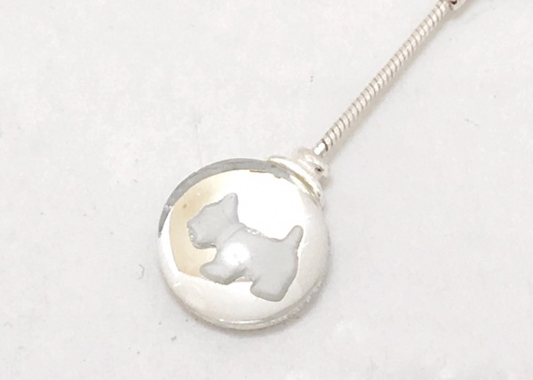 AGATHA(アガタ) ネックレス美品  金属素材×ガラス シルバー×クリア×白