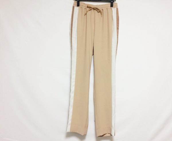プランピーナッツ パンツ サイズ38 M レディース ベージュ×アイボリー×ブラウン