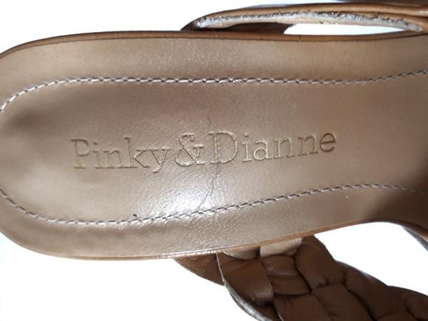 Pinky&Dianne(ピンキー&ダイアン) サンダル 35 1/2 レディース ライトブラウン レザー