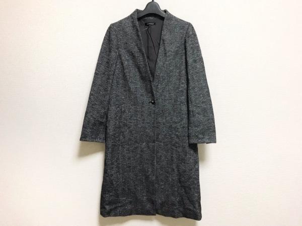 ロートレアモン コート サイズ38 M レディース美品  黒×白 チェック柄/冬物