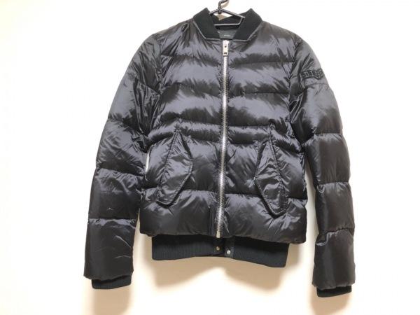 DIESEL(ディーゼル) ダウンジャケット メンズ 黒 ジップアップ/冬物