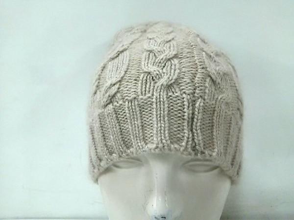 Johnstons(ジョンストンズ) ニット帽美品  ライトブラウン カシミヤ