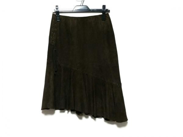 スキャパ スカート サイズ38 L レディース美品  ブラウン バックスキン(シープ)