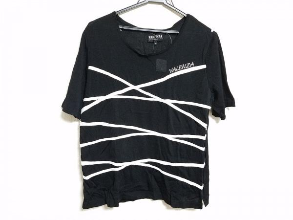 バレンザスポーツ 半袖カットソー サイズ48 XL レディース 黒×白×クリア