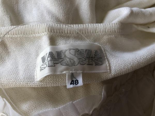 バレンザスポーツ 半袖カットソー サイズ48 XL レディース美品  白×クリア